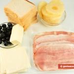 Ingredients for Hawaiian Toasts