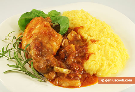 Hunter's Rabbit with Mushrooms and Polenta