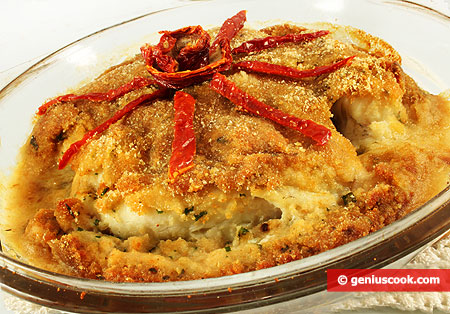 Monkfish with Cheese Crust