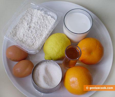 Ingredients for Crêpe Suzette