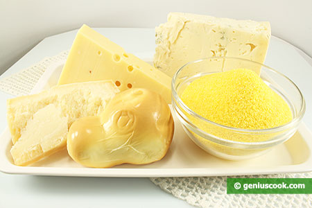 Ingredients for Four Cheese Polenta