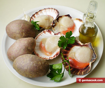 Ingredients for Scallops with Mashed Potatoes