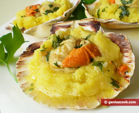 Scallops with Mashed Potatoes