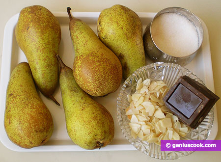 Ingredients for Pears with Chocolate Sauce