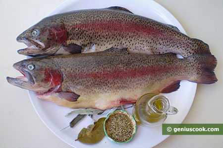 Ingredients for Fried Trout with Herbs