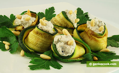 Zucchini stuffed with Ricotta and Truffles