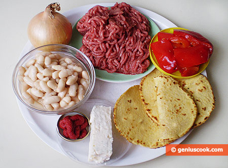 Ingredients for Beef Taco