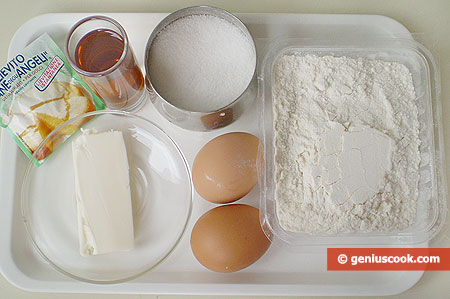 Ingredients for Italian Carnival Cookies