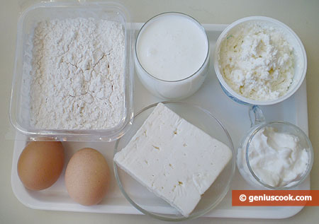 Ingredients for Khachapuri