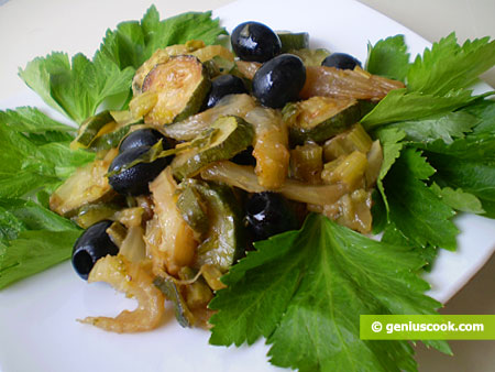 Zucchini with Fennel and Celery