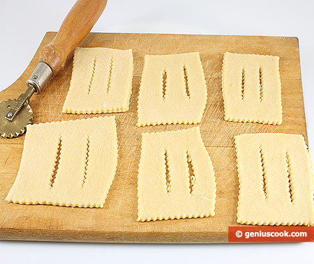 cut strips of dough