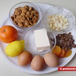 Ingredients for Fruit and Almond Cake