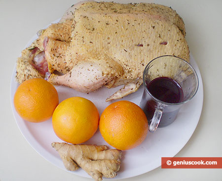 Recipe for Baked Duck with Blueberry and Orange Sauce