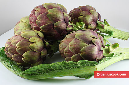 Ingredients for Fried Artichokes
