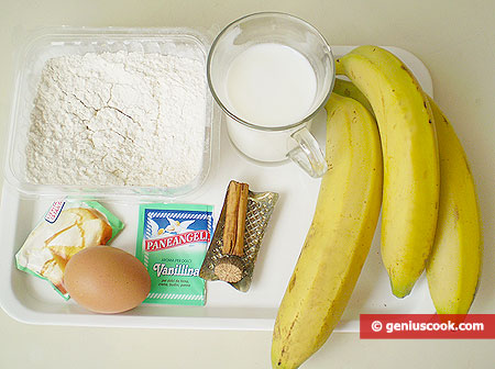 Ingredients for Jamaican Banana Pancakes