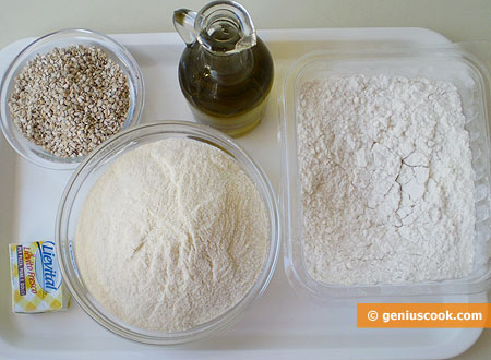 Ingredients for Bread with Sesame