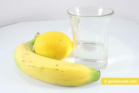 Ingredients for Banana Daiquiri Cocktail