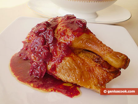 Baked Duck with Blueberry and Orange Sauce