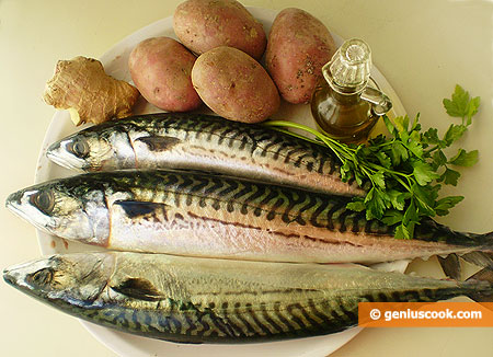 Ingredients for Baked Mackerel with Potatoes