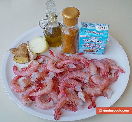 Ingredients for Shrimps in Spicy Curry Sauce