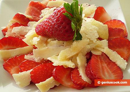 Strawberry Carpaccio with Parmesan