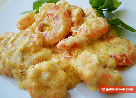Shrimps in Spicy Cream Curry Sauce