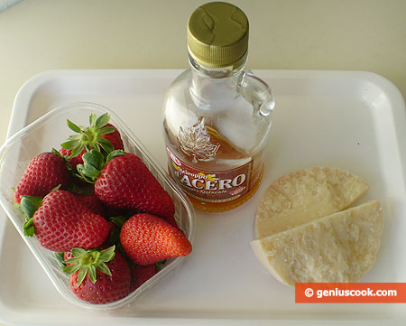 Ingredients for Strawberry Carpaccio