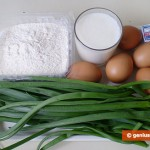 Ingredients for Patty Cakes with Egg and Green Onion