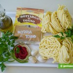 Ingredients for Pasta with Botargo Tuna Caviar