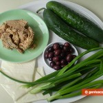 Ingredients for Cucumbers with Tuna and Olives