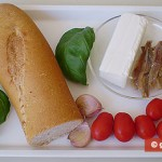 Ingredients for Crostini with Anchovy