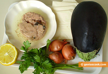 Ingredients for Eggplants with Cod Liver