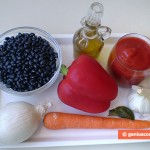 Ingredients for Pottage with Black Kidney Beans
