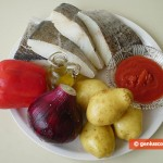 Ingredients for Stewed Cod and Potatoes