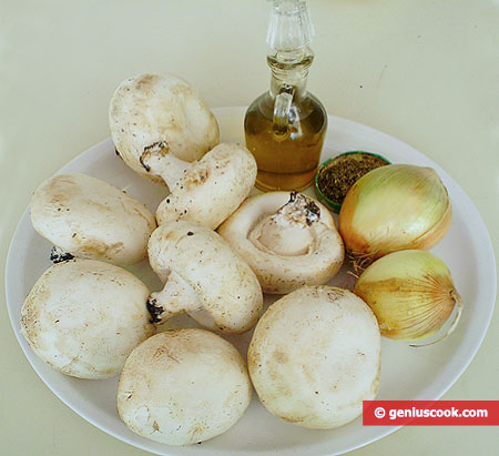 Ingredients for Field Mushrooms Fried