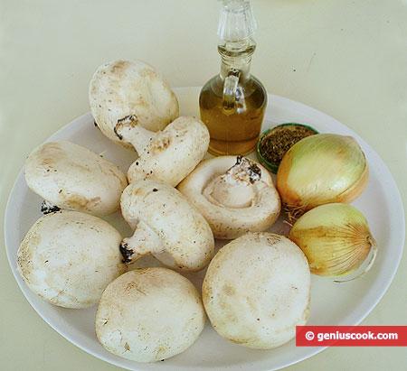 Ingredients for Field Mushrooms Fried