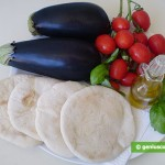 Ingredients for Pitta with Eggplants and Tomatoes