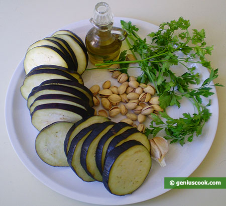 Ingredients for Eggplant Salad with Pistachios