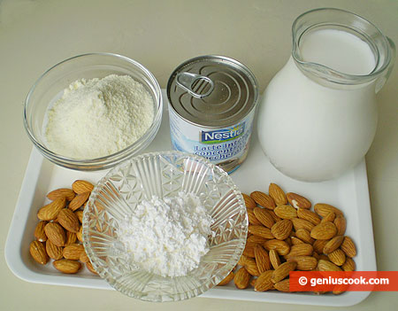 Ingredients for Almond Milk Ice Cream