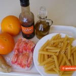 Ingredients for Penne with Crabs in Orange Sauce