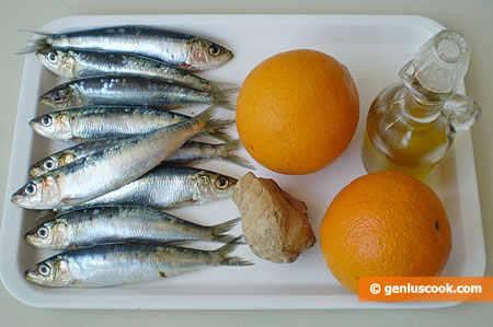 Ingredients for Sardines with Orange Sauce