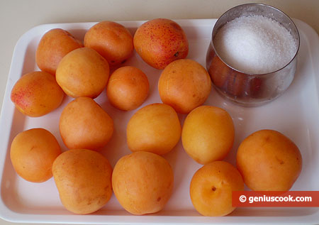 Ingredients for Apricot Sorbet