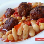 Meat Balls in Tomato Sauce with Kidney Beans