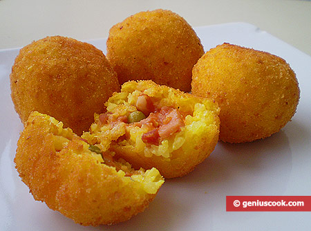 Sicilian Rice Balls Arancini