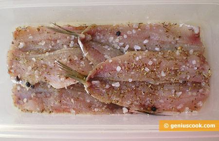 fillets with salt and spices