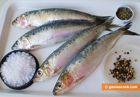 Ingredients for Sardines in Spiced Salt