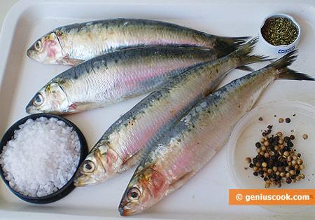Ingredients for Sardines in Spiced Salt