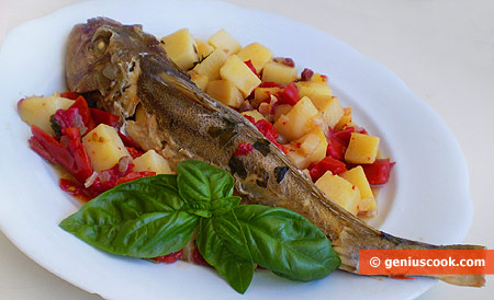 The Recipe for Gurnard with Potato, Tomatoes and Pancetta