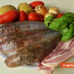 Ingredients for Gurnard with Potato and Pancetta