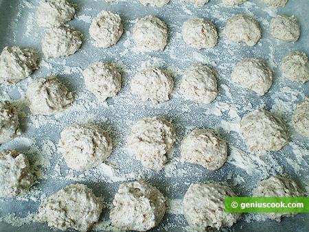 dough on a baking tray